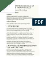 Artigo _as Rupturas Tecnológicas Na Sociedade Da Informação