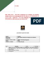 MB0046- Marketing Management