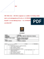 Mb0044 - Production and Operation Management