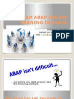 Best Sap Abap Onlinetraning in INDIA