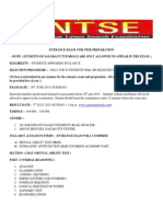 Entrance Exam for Ntse Preparation