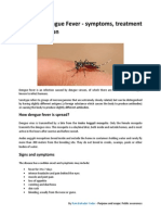 Dengue Fever - Symptoms, Treatment and Prevention