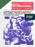Revista Internacional-Nuestra Época-Edición Chilena Septiembre 1985