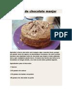 Torta de Chocolate Manjar
