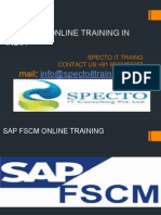 Sap Fscm Online Training in india