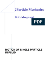 Single Particle Motion under gravity in a fluid