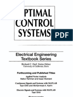 Optimal Control Systems,Subbaram Naidu