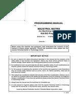 MAZAK 510C Matrix ProgManual