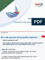 Bar Code Process Flow