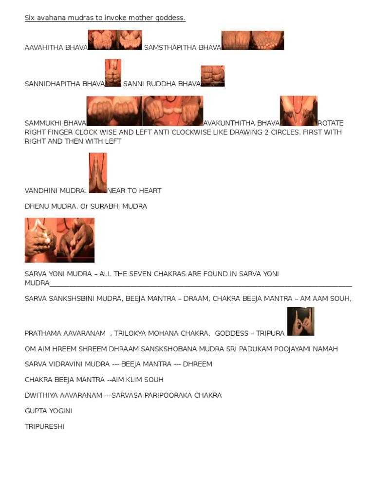 Mudras for Dasa Maha Vidhya | Hindu Mythology | Theistic Indian