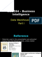 Session 5 Data Warehousing Part I