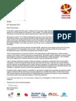 GCSE Maths Letter September 2015