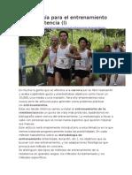 Metodología Para El Entrenamiento de La Resistencia Vitonica