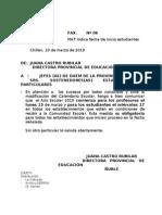 MAT:Indica Fecha de Inicio Estudiantes Chillán, 10