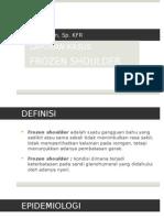 Lapsus frozen shoulder