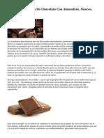 Como Hacer Trufas De Chocolate Con Almendras, Nueces, Pasas