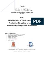 Production Simulation for Shipyards