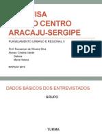 Pesquisa Bairro Centro Aracaju Sergipe