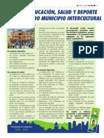 TAREA 6.- Mejor Educación, Salud y Deporte en Nuestro Municipio Intercultural