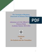 B Ed Handbook