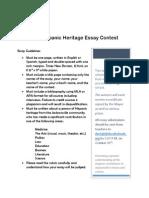 Hispanic Heritage Essay Contest 2015