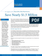 ASQ Green Belt Saves &1.5M