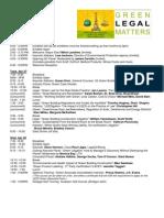 Latest Green Legal Matters Agenda