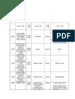 Cronograma - seminário