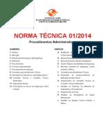 Nt 01 2014 Procedimentos Administrativos2