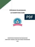Pedoman Pelaksanaan UKG Tahun 2015