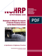 NCHHRP Strategies to Mitigate the Impacts of Chlorine Roadway Deicers on the Natural Environment