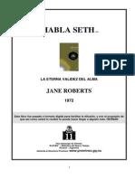 Roberts, Jane - Habla Seth i