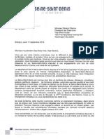 Lettre de Stéphane Troussel à Barack Obama