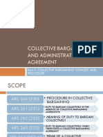 Collective Bargaining and Administration of Agreement