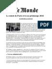 Nouveau Statut de Paris Revu Au Printemps 2016