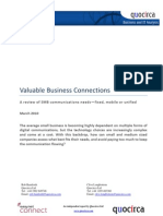 Valuable Business Connections - A review of SMB communications needs