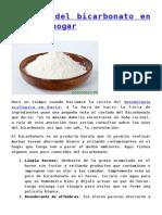 usos del bicarbonato