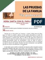 HORA SANTA CON EL PAPA. Las pruebas de la familia