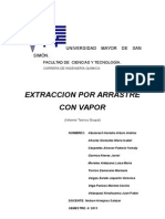Extraccion por arrastre por vapor
