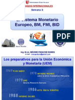 Sistema Monetario Europeo, BM, FMI, BID