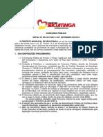 Edital do Concurso Público Municipal - Governo Municipal de Ibicuitinga