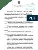 Moción Auditoria Ayuntamiento  Granada