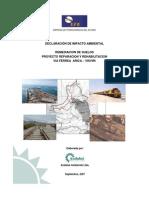 Declaracion de Impacto Ambiental Proyecto via Ferrea