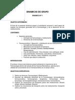 Dinámicas de Grupo Farmacologia 2013