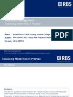 Model Risk Forrest