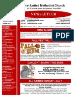 Newsletter for October 2015