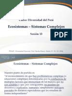 Sesión 13 - Ecosistemas Sistemas Complejos 1 2 y 3
