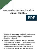 Metode de Colectare Și Analiza Datelor Statistice