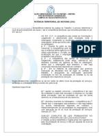 Aula IV - Continuação de Competência - Competência Territorial, Em Razão Da Pessoa e Funcional.