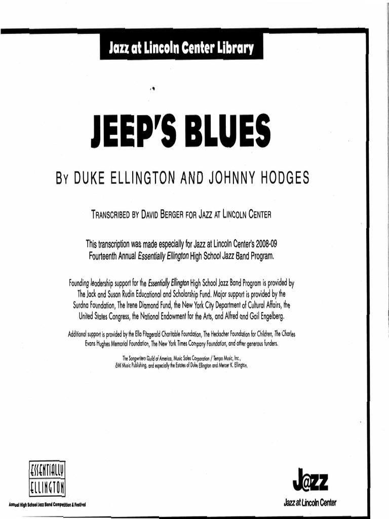 Jeeps Blues SCORE